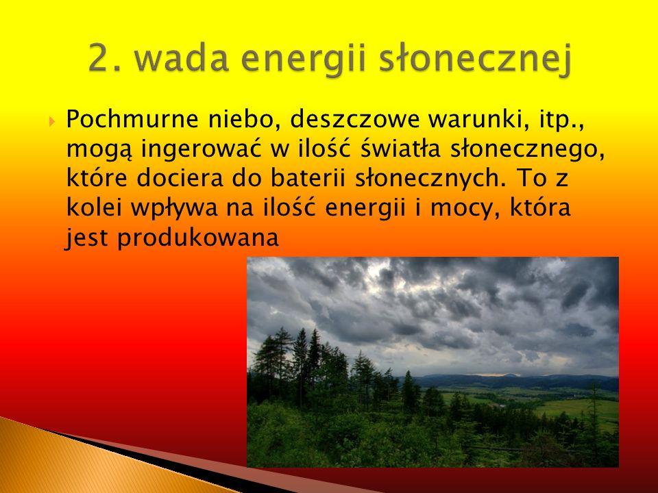 2. wada energii słonecznej