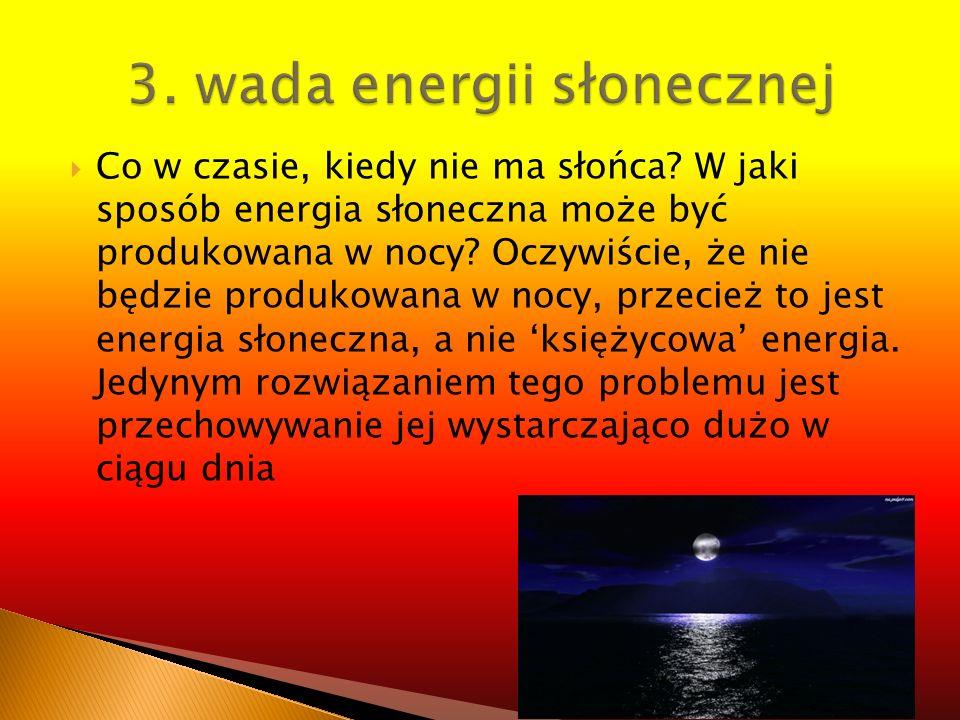 3. wada energii słonecznej
