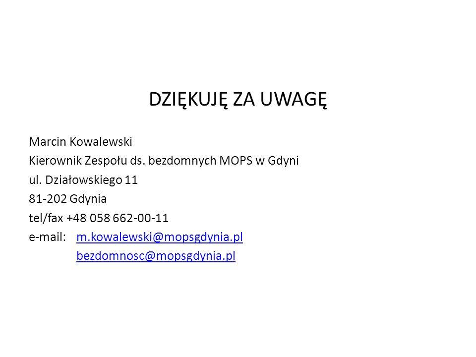 DZIĘKUJĘ ZA UWAGĘ Marcin Kowalewski