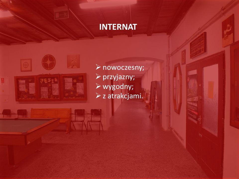 INTERNAT nowoczesny; przyjazny; wygodny; z atrakcjami.