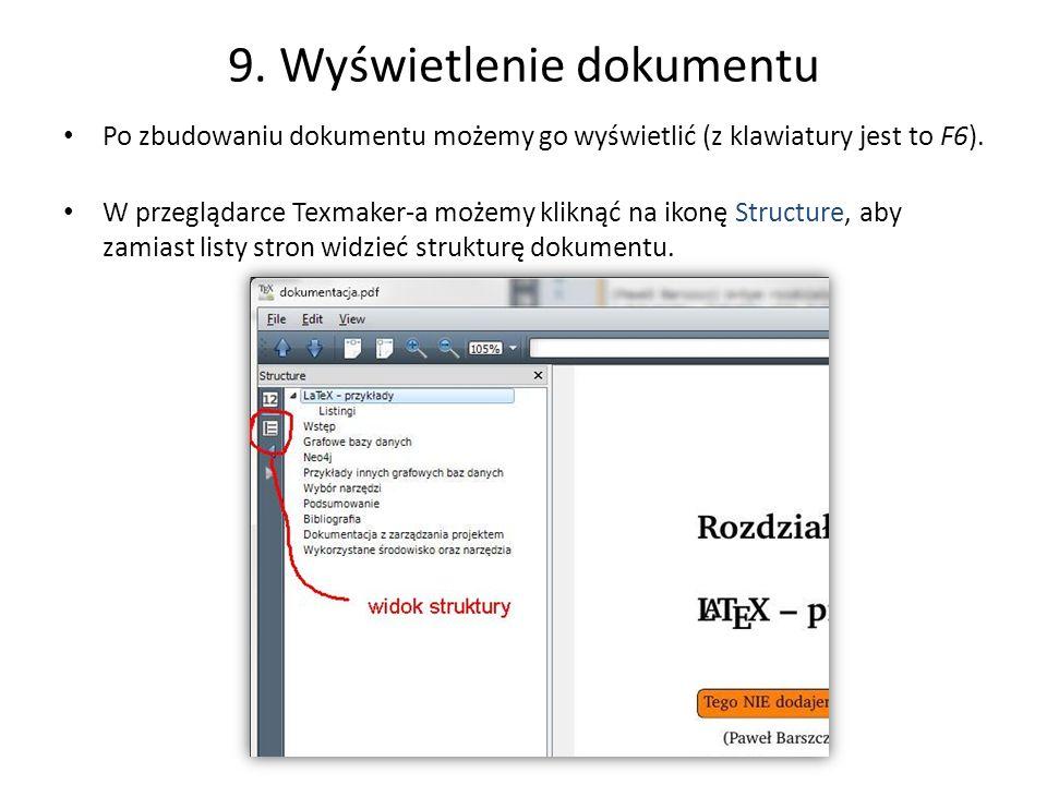 9. Wyświetlenie dokumentu