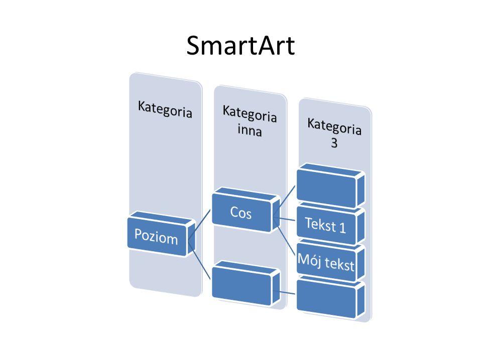SmartArt Poziom Cos Tekst 1 Mój tekst Kategoria Kategoria inna