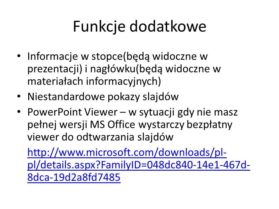 Materiały informacyjne z mojej prezentacji