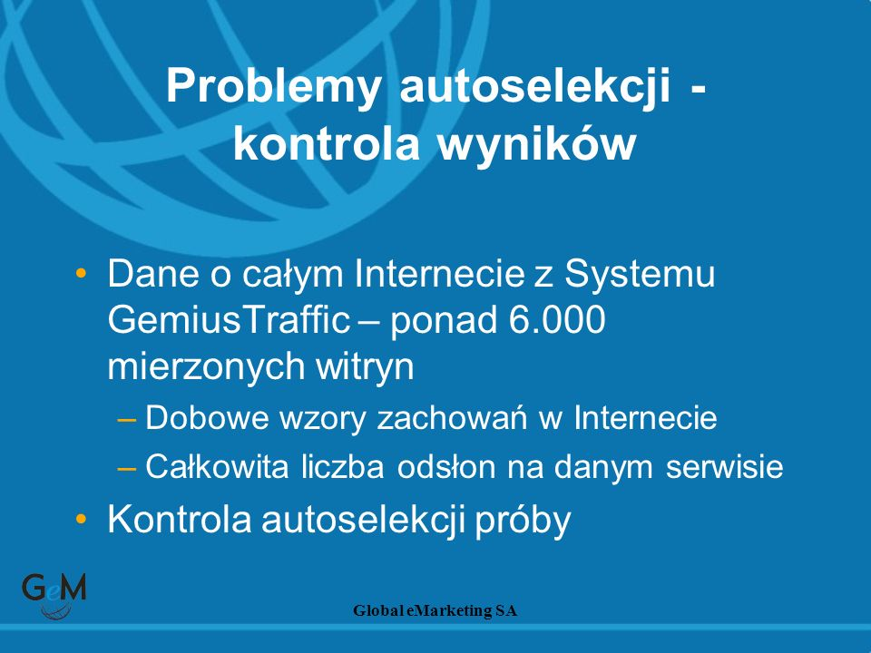 Problemy autoselekcji - kontrola wyników