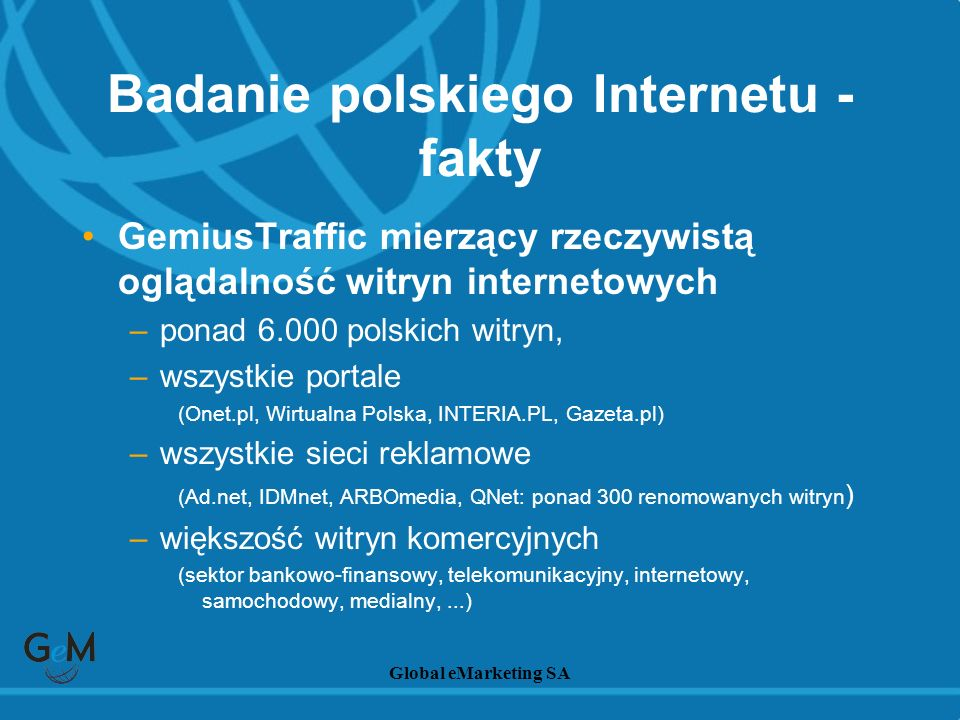 Badanie polskiego Internetu - fakty