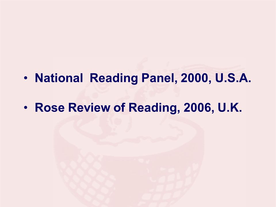 National Reading Panel, 2000, U.S.A.