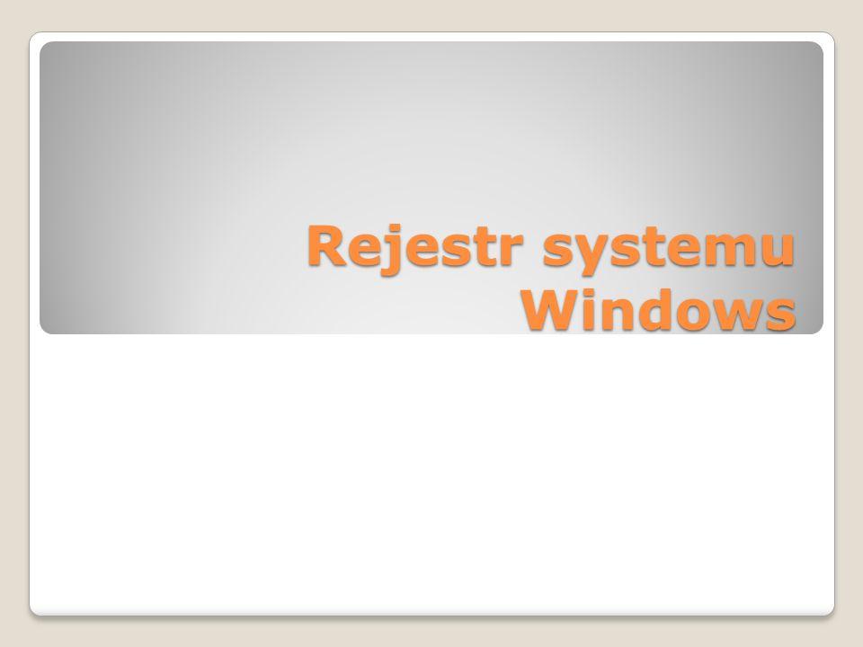 Rejestr systemu Windows