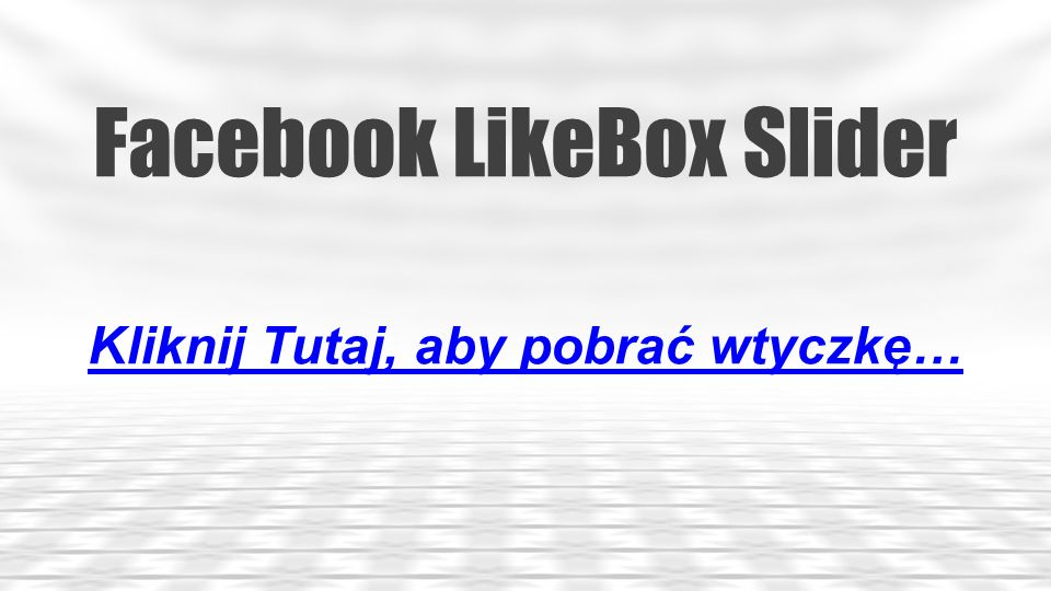 Facebook LikeBox Slider