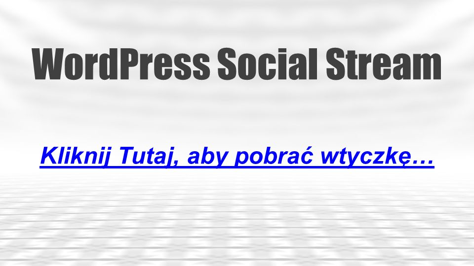 WordPress Social Stream
