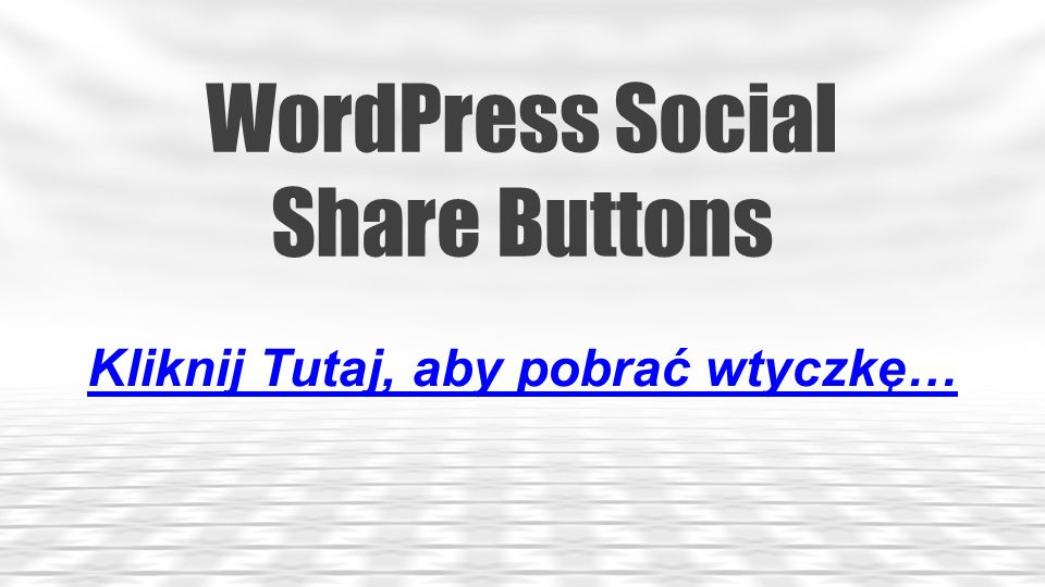 WordPress Social Share Buttons