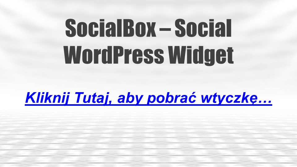 SocialBox – Social WordPress Widget