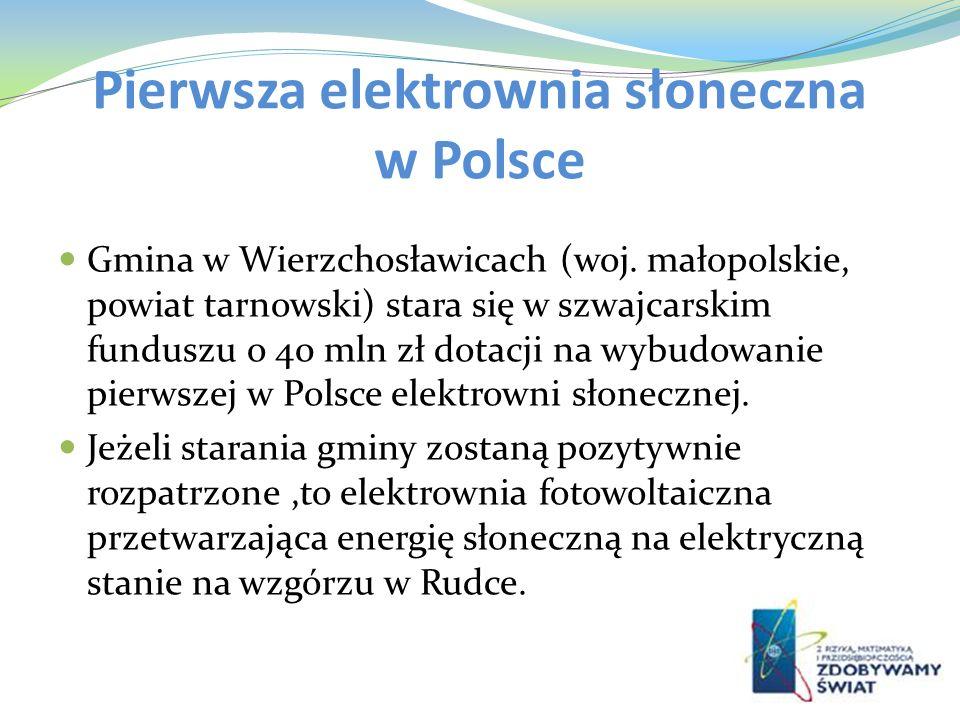 Pierwsza elektrownia słoneczna w Polsce