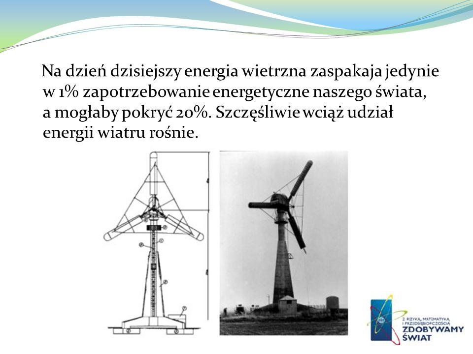 Na dzień dzisiejszy energia wietrzna zaspakaja jedynie w 1% zapotrzebowanie energetyczne naszego świata, a mogłaby pokryć 20%.