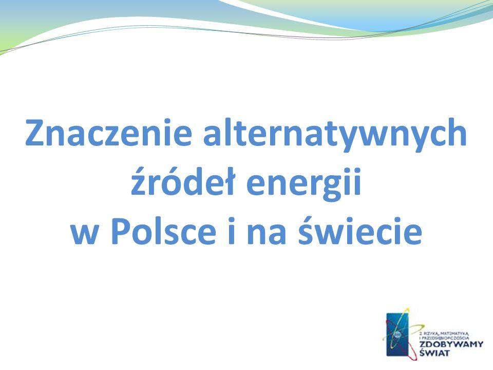 Znaczenie alternatywnych źródeł energii w Polsce i na świecie