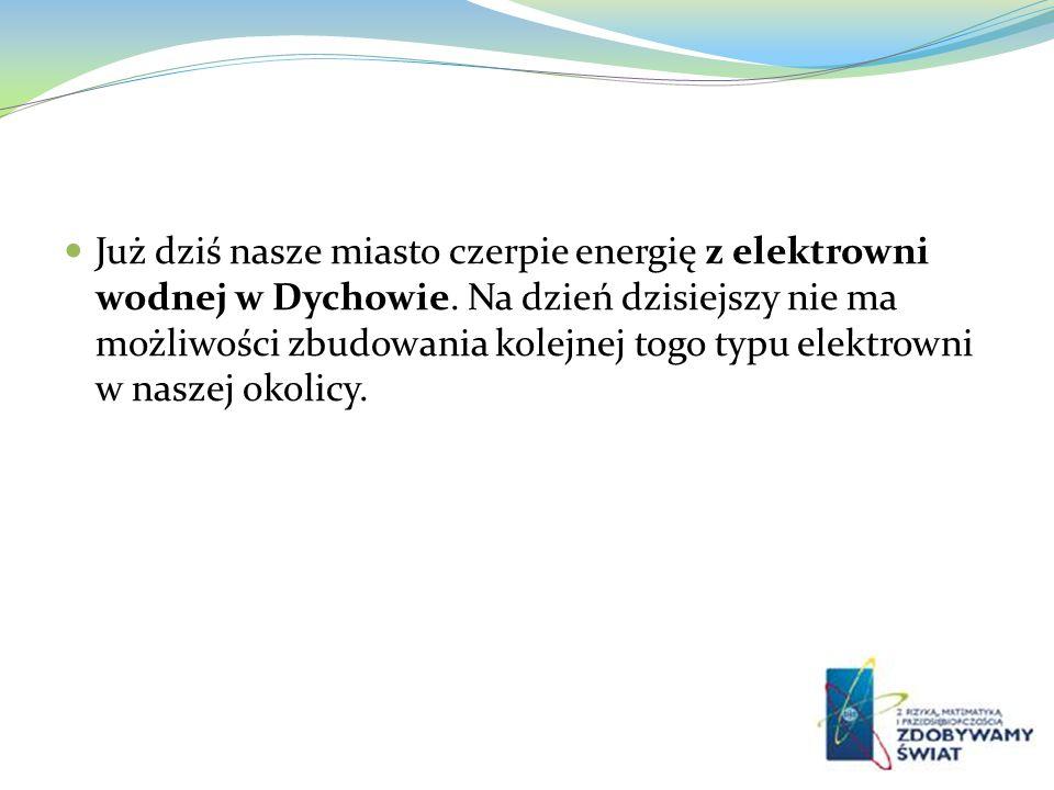 Już dziś nasze miasto czerpie energię z elektrowni wodnej w Dychowie
