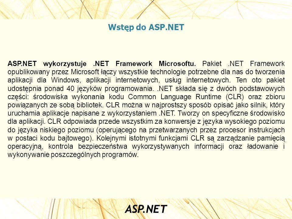 Wstęp do ASP.NET