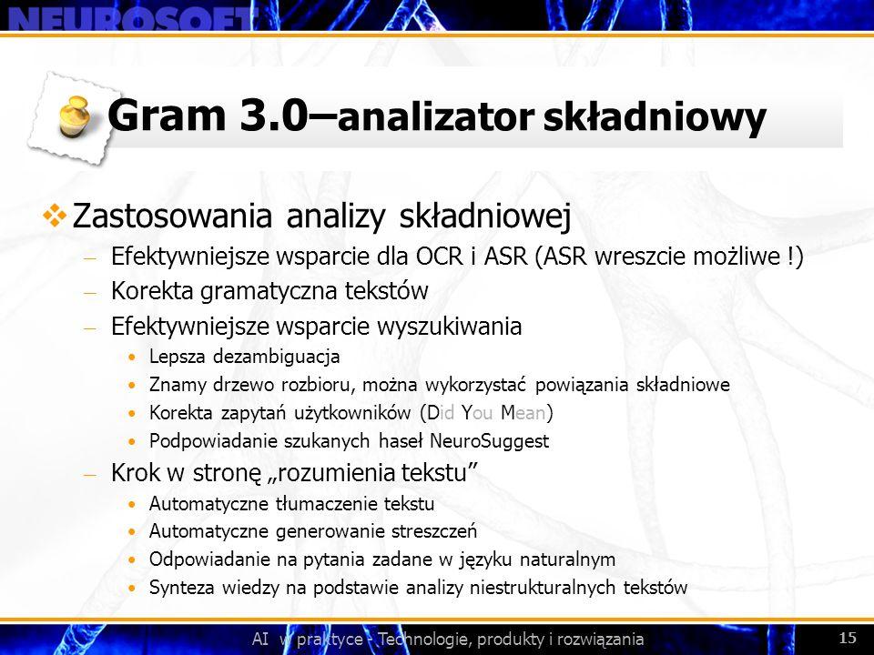 Gram 3.0–analizator składniowy