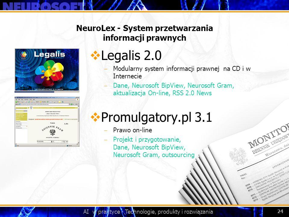 NeuroLex - System przetwarzania informacji prawnych
