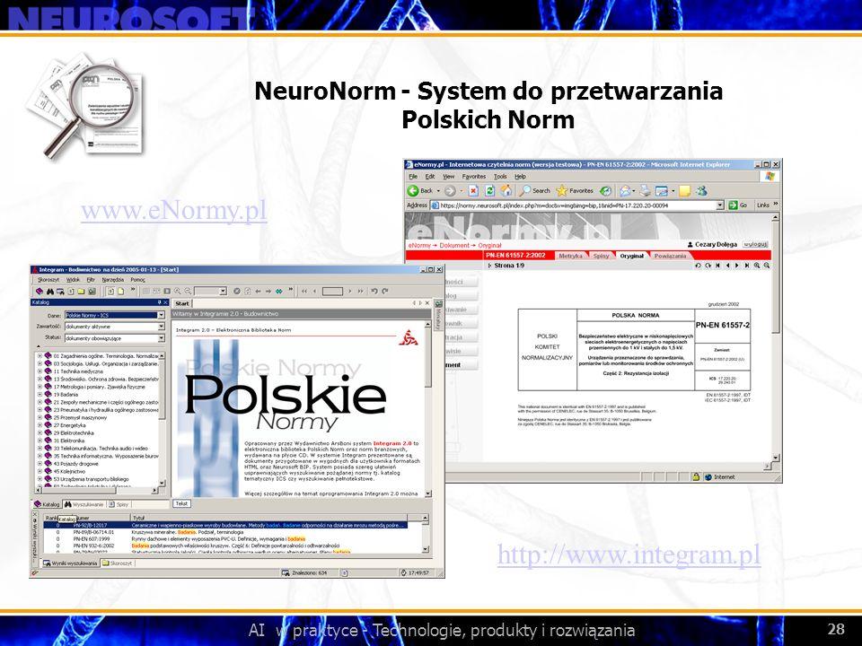 NeuroNorm - System do przetwarzania Polskich Norm