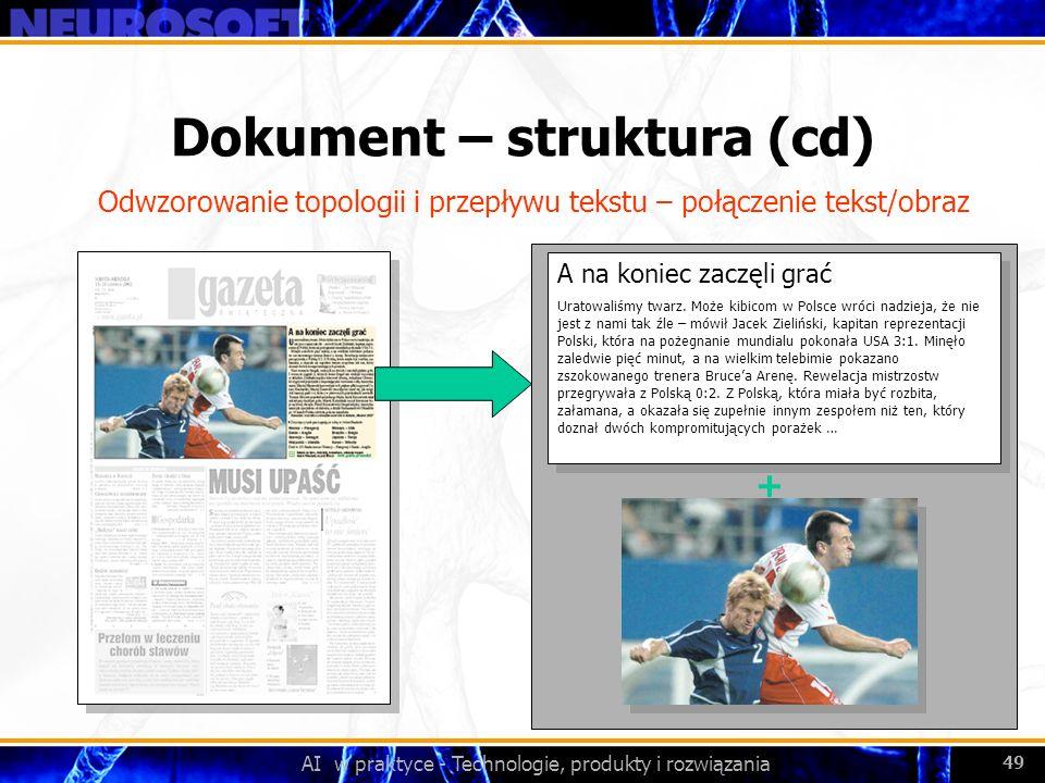 Dokument – struktura (cd)