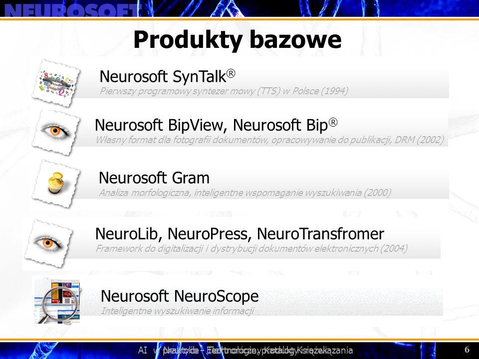 Produkty bazowe Neurosoft SynTalk®