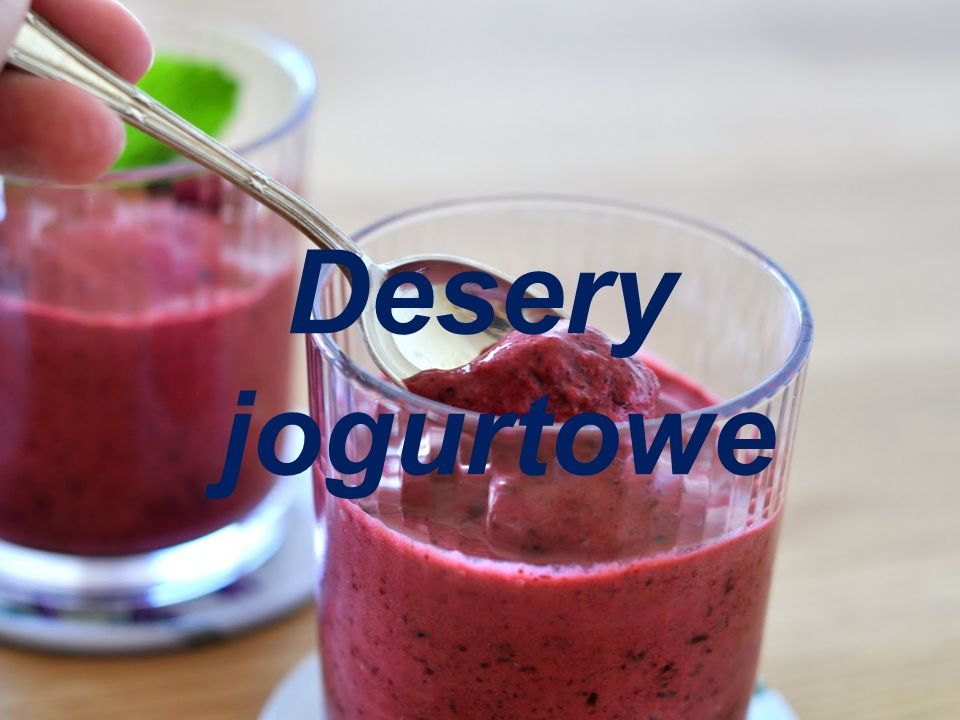 Desery jogurtowe