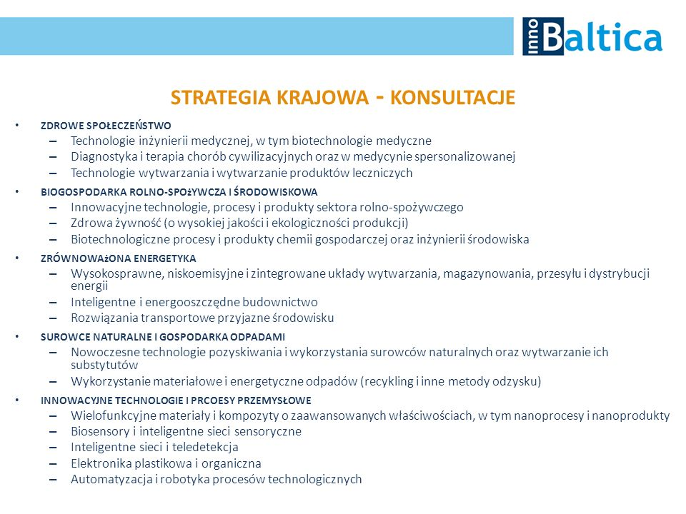 strategia krajowa - konsultacje