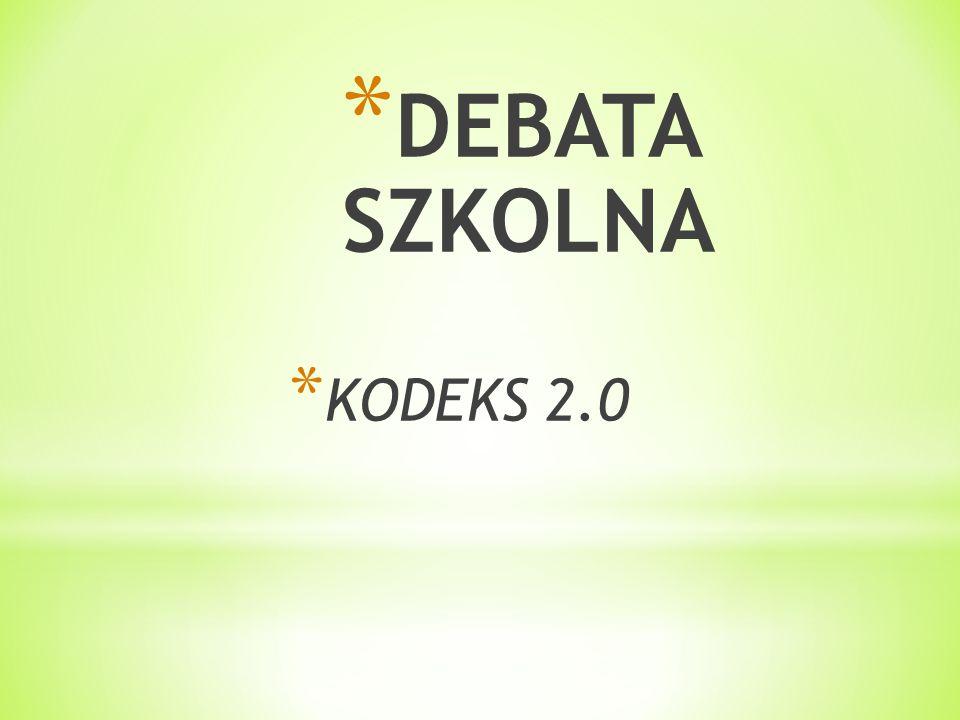 DEBATA SZKOLNA KODEKS 2.0