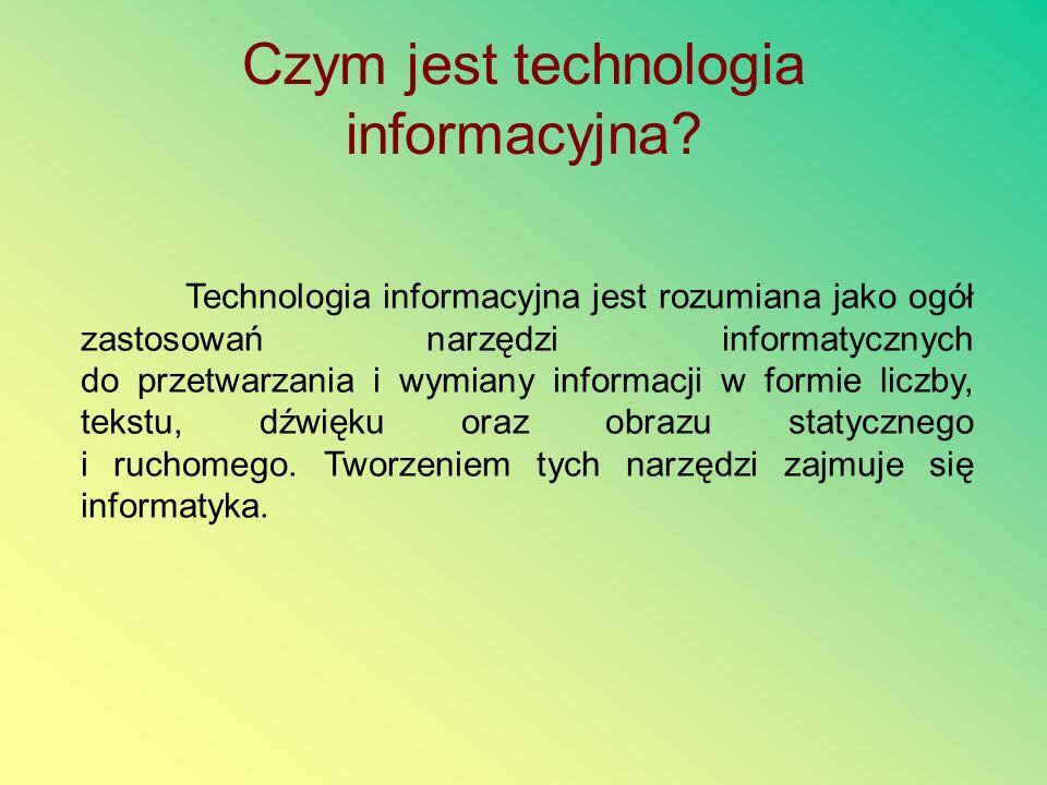 Czym jest technologia informacyjna
