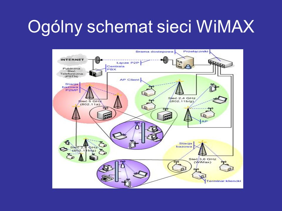 Ogólny schemat sieci WiMAX