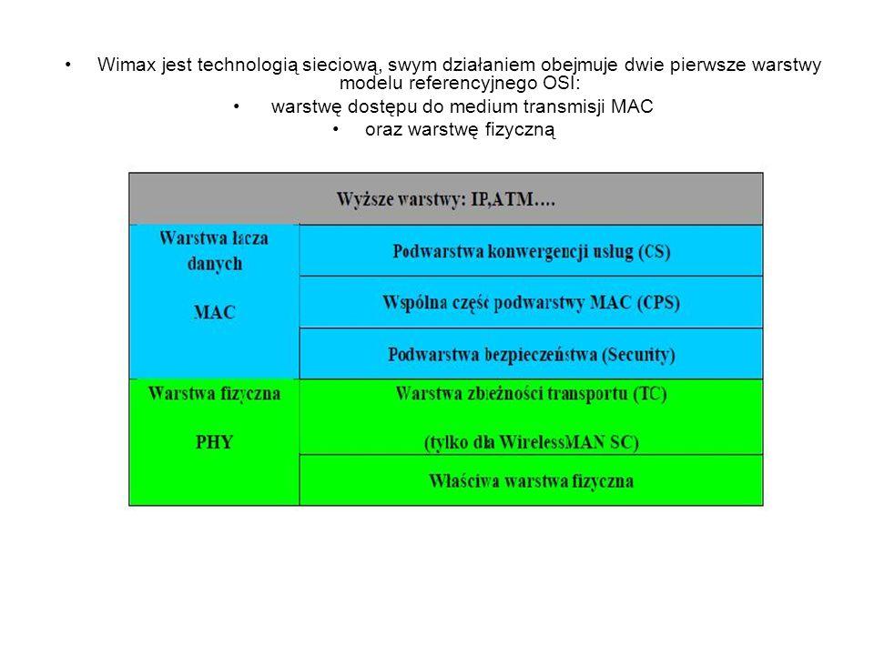 warstwę dostępu do medium transmisji MAC