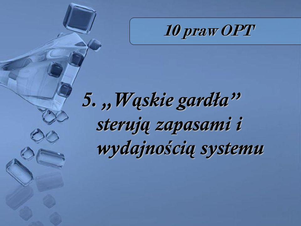 """5. """"Wąskie gardła sterują zapasami i wydajnością systemu"""