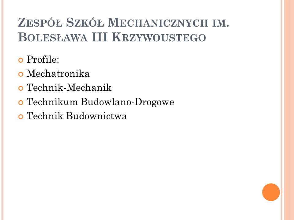 Zespół Szkół Mechanicznych im. Bolesława III Krzywoustego
