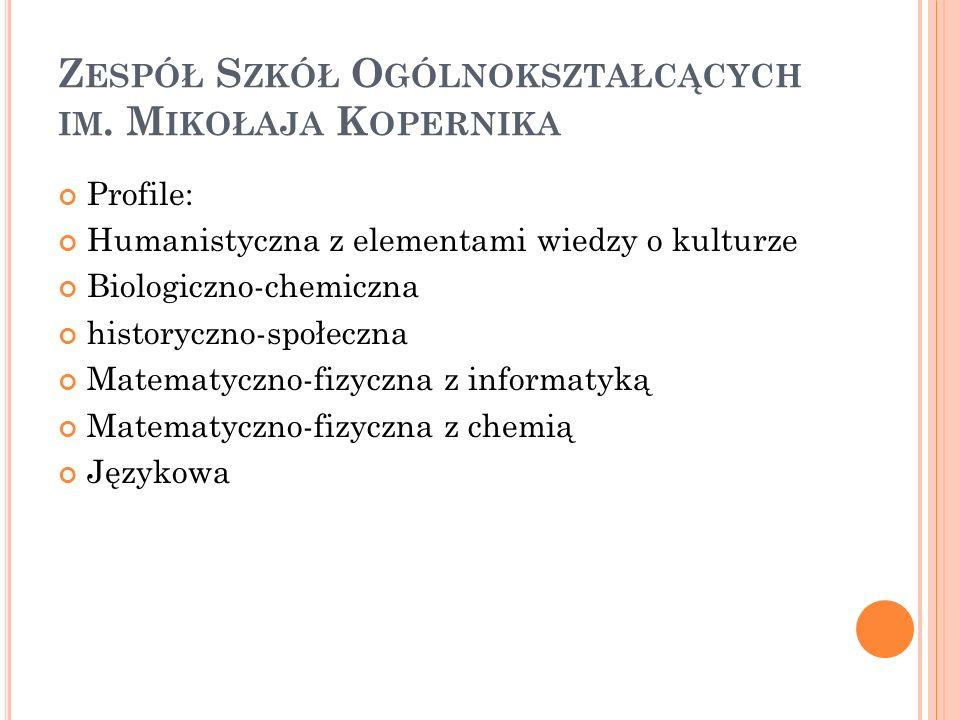 Zespół Szkół Ogólnokształcących im. Mikołaja Kopernika