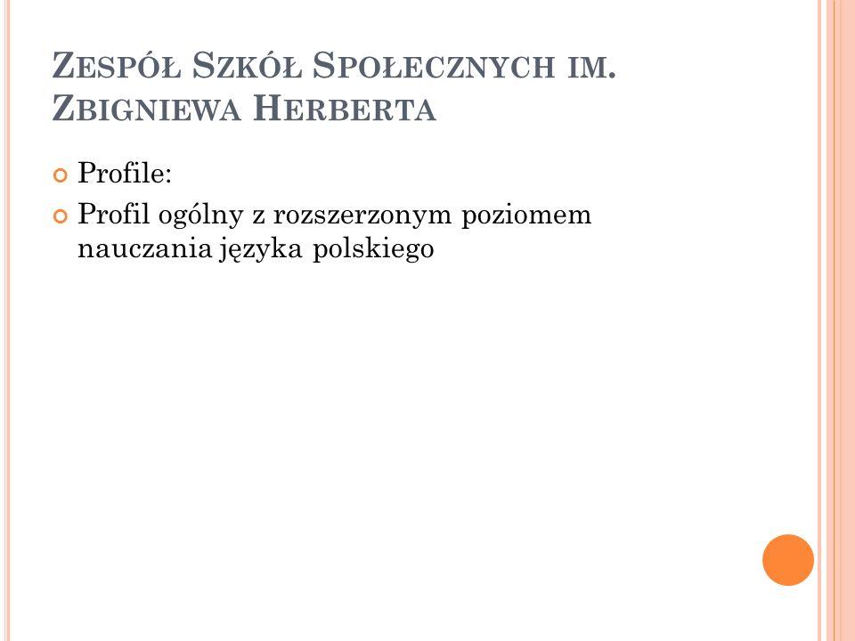 Zespół Szkół Społecznych im. Zbigniewa Herberta