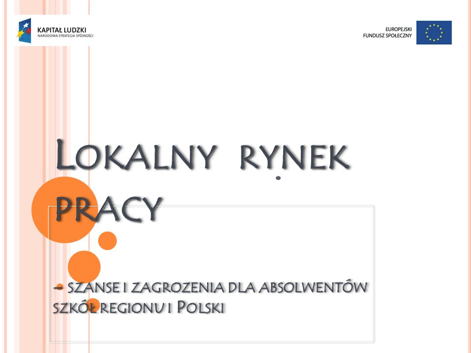 Lokalny rynek pracy – szanse i zagrozenia dla absolwentów szkół regionu i Polski