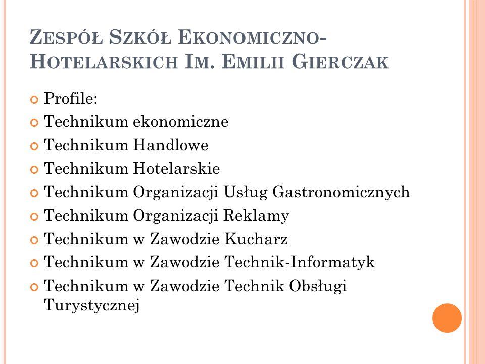 Zespół Szkół Ekonomiczno-Hotelarskich Im. Emilii Gierczak