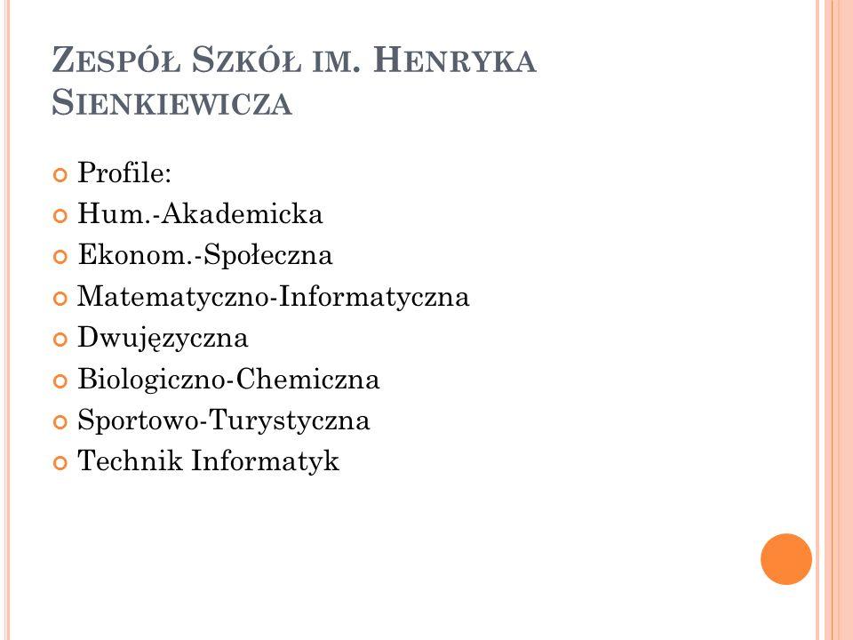 Zespół Szkół im. Henryka Sienkiewicza