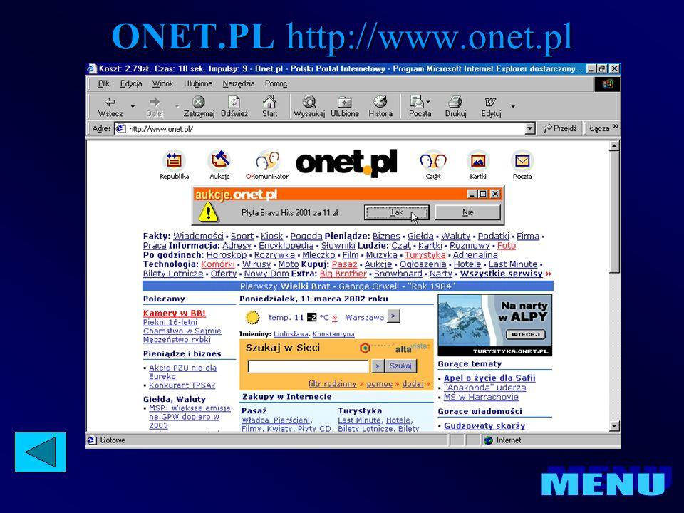 ONET.PL http://www.onet.pl