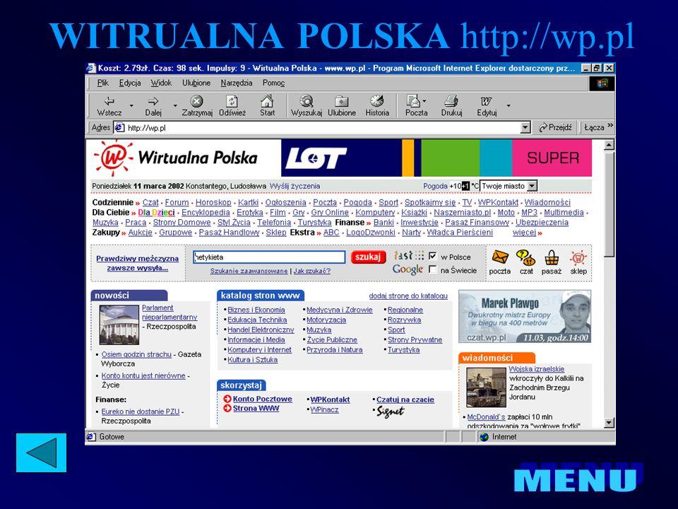 WITRUALNA POLSKA http://wp.pl