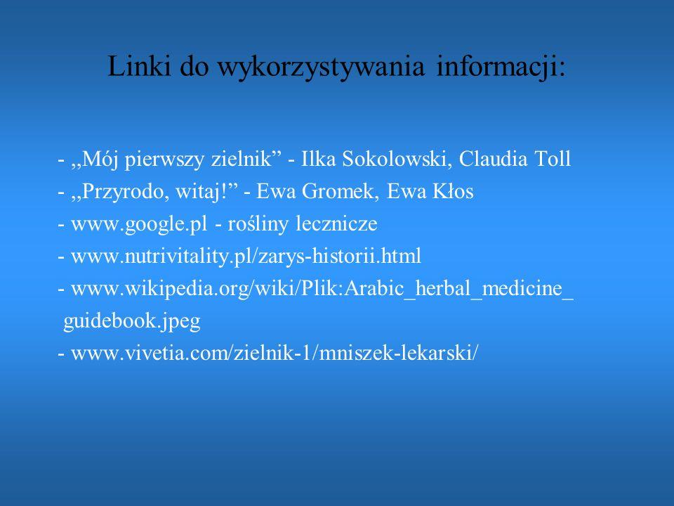 Linki do wykorzystywania informacji: