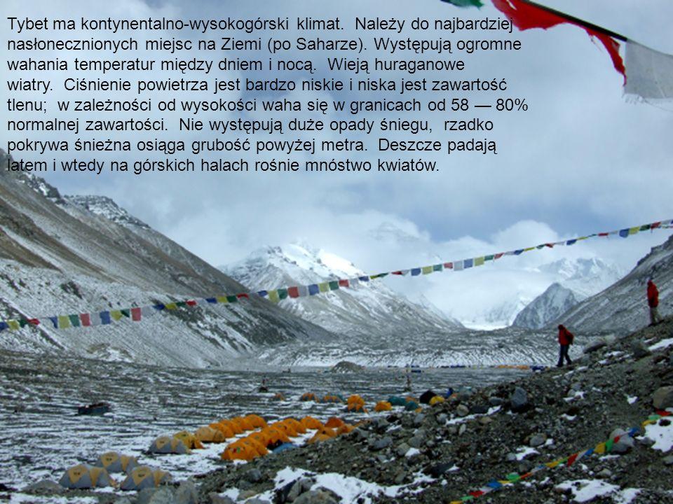 Tybet ma kontynentalno-wysokogórski klimat