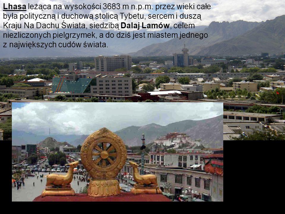 Lhasa leżąca na wysokości 3683 m n. p. m