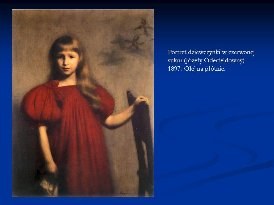 Portret dziewczynki w czerwonej sukni (Józefy Oderfeldówny). 1897