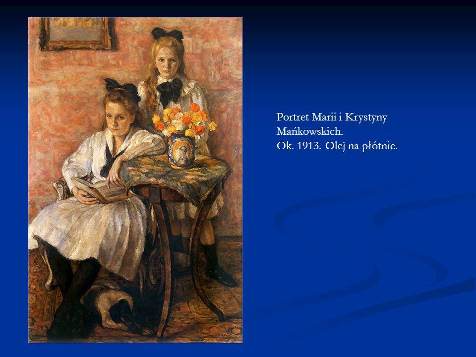 Portret Marii i Krystyny Mańkowskich. Ok. 1913. Olej na płótnie.