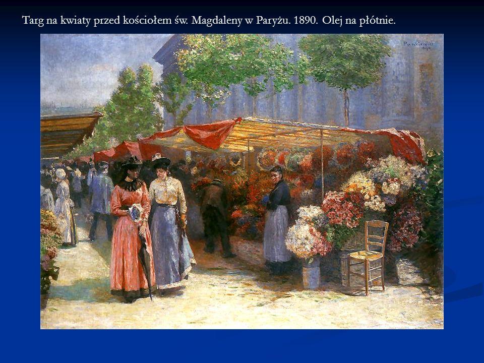 Targ na kwiaty przed kościołem św. Magdaleny w Paryżu. 1890