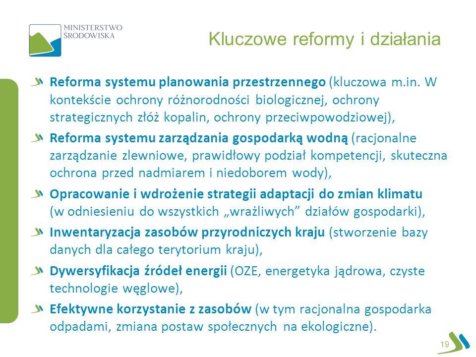 Kluczowe reformy i działania