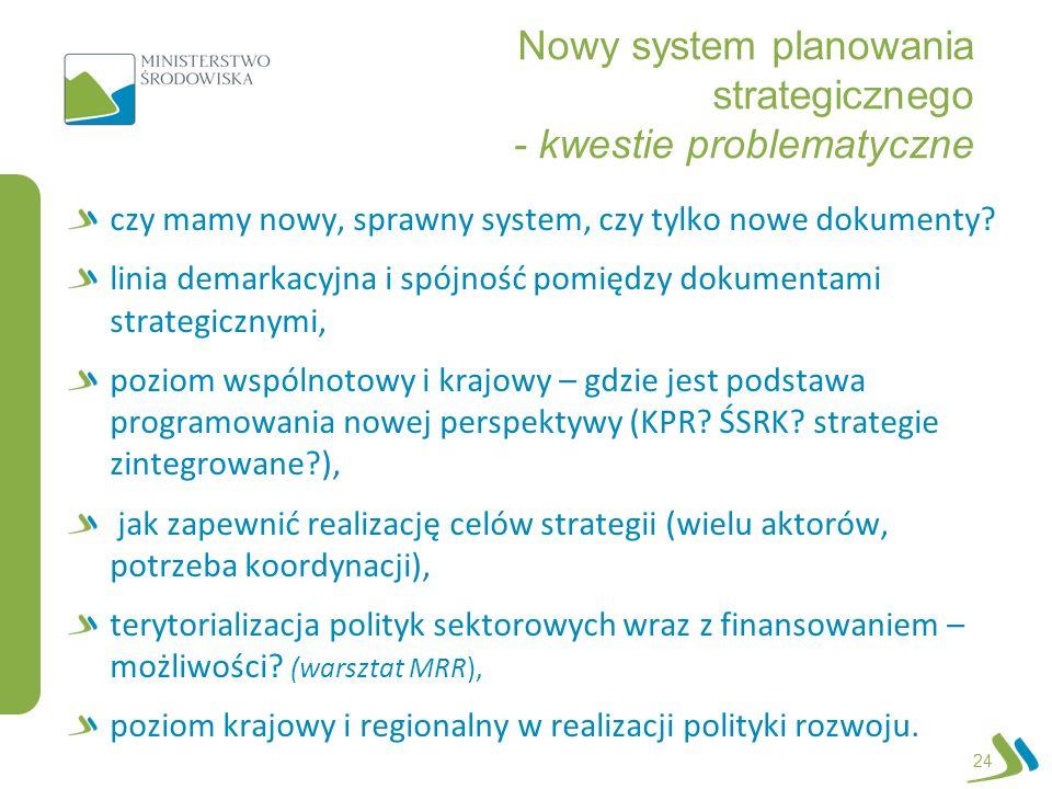 Nowy system planowania strategicznego - kwestie problematyczne