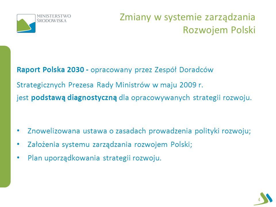Zmiany w systemie zarządzania Rozwojem Polski