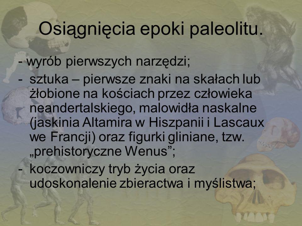 Osiągnięcia epoki paleolitu.